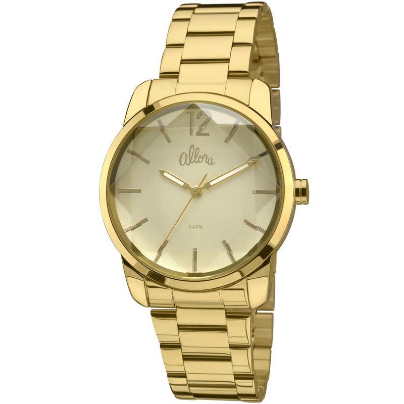 Relógio Allora Feminino Dourado Analógico Metal AL2035FAU/4D