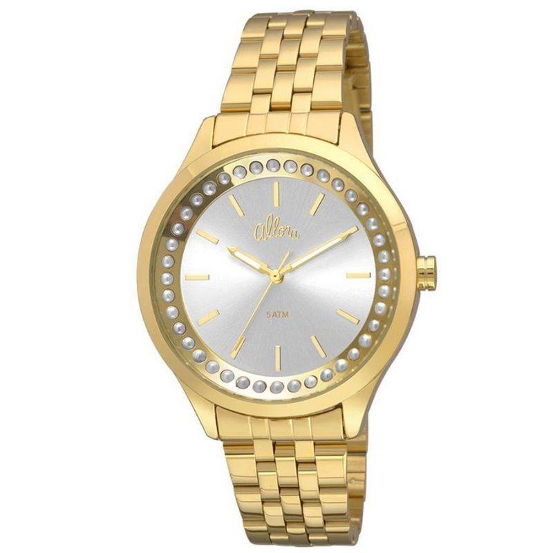 Relógio Allora Feminino Dourado Analógico Metal AL2035FHW/4K
