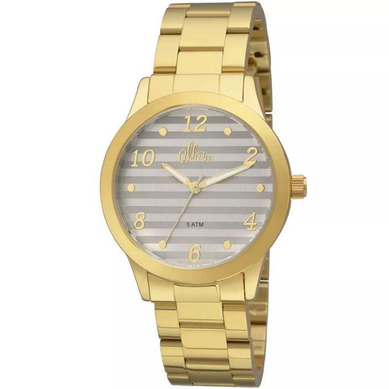 Relógio Allora Feminino Dourado Analógico Metal AL2035FIF/4C