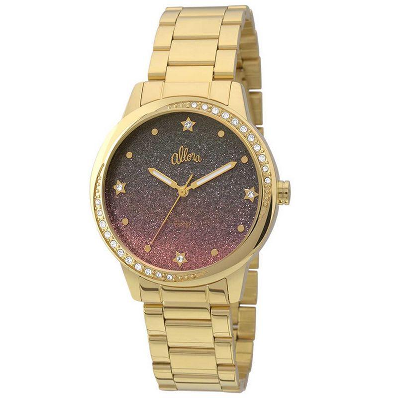 Relógio Allora Feminino Dourado Analógico Metal AL2036CQ/4G