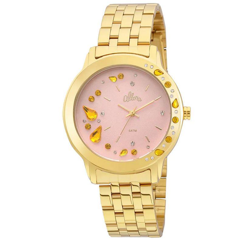 Relógio Allora Feminino Dourado Analógico Metal AL2036FGL/4Q