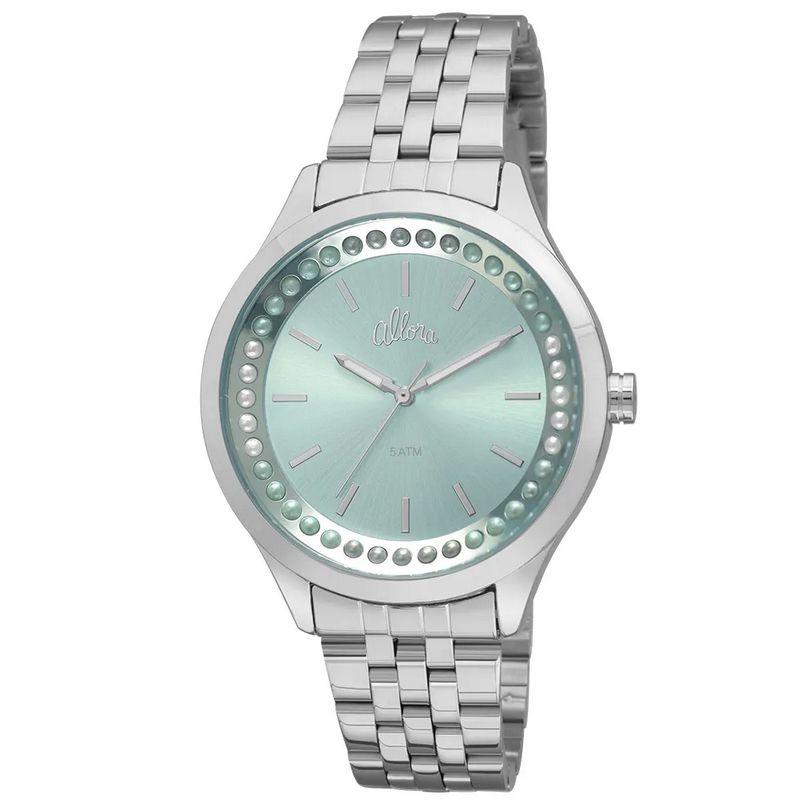 Relógio Allora Feminino Prata Analógico Metal AL2035FHX/3V