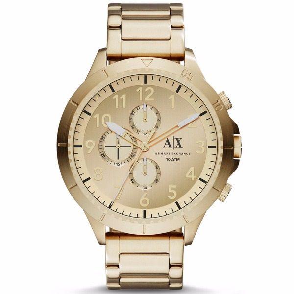 Relógio Armani Exchange Masculino Dourado Cronógrafo Aço AX1752/4DN