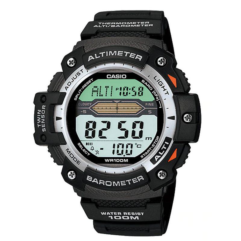 Relógio Casio Masculino Digital Resina Preto Cronógrafo Altímetro Barômetro SGW-300H-1AVDR