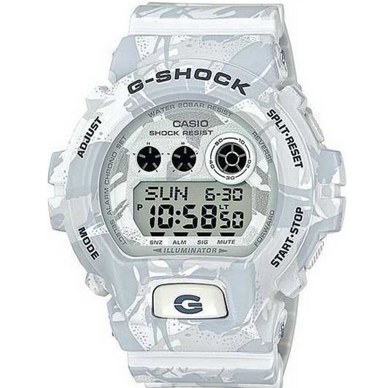 817ce1161057 Relógio Casio Masculino G-Shock Branco Camuflado Cronógrafo Anadigi Resina  GD-X6900MC-7DR
