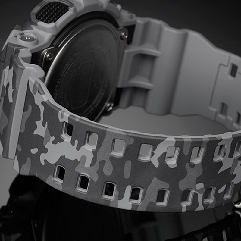 Relógio Casio Masculino G-Shock Cinza Camuflado Cronógrafo Anadigi Resina GA-100CM-8ADR