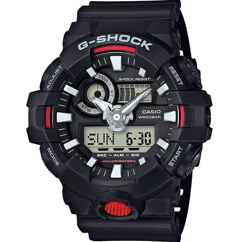 Relógio Casio Masculino G-Shock Cronógrafo Anadigi Resina Preto GA-700-1ADR