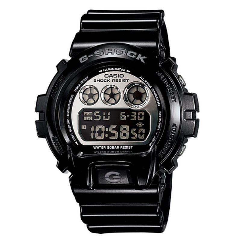 Relógio Casio Masculino G-Shock Digital Resina Preto Cronógrafo DW-6900NB-1DR