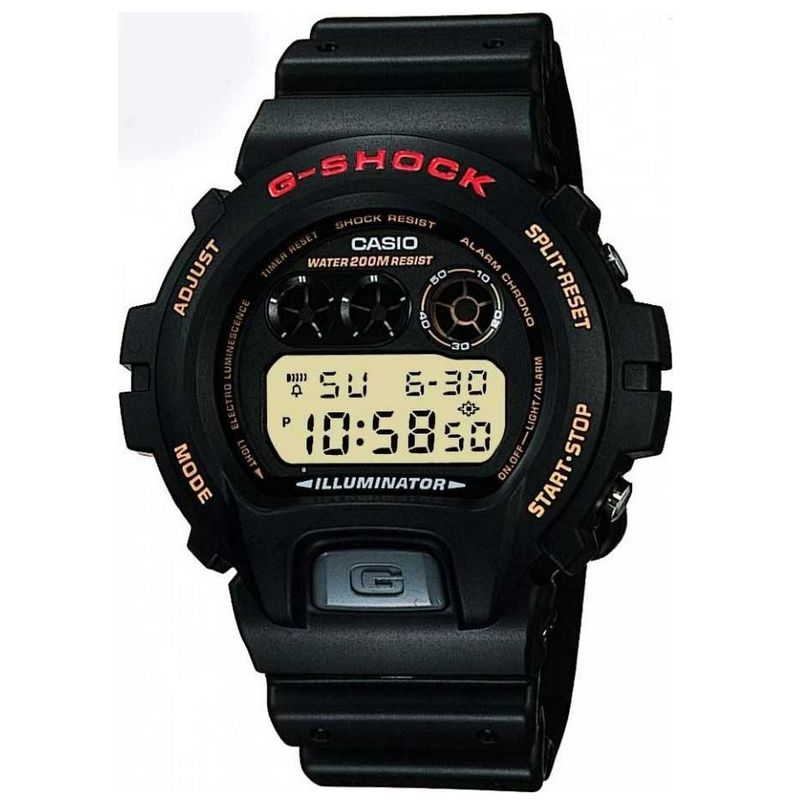 Relógio Casio Masculino G-Shock Preto Cronógrafo Digital Resina DW-6900G-1VQ