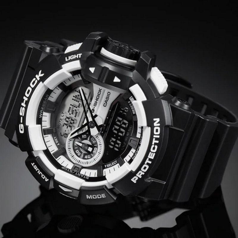 Relógio Casio Masculino G-Shock Resina Preto Cronógrafo AnaDigi GA-400-1ADR