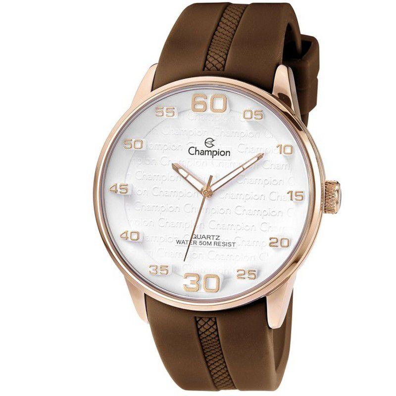 Relógio Champion Feminino Analógico Silicone Marrom CH30206S