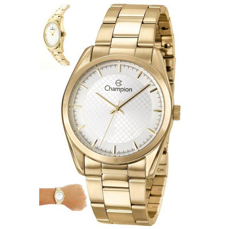 Relógio Champion Feminino Dourado Aço Analógico CN29525H