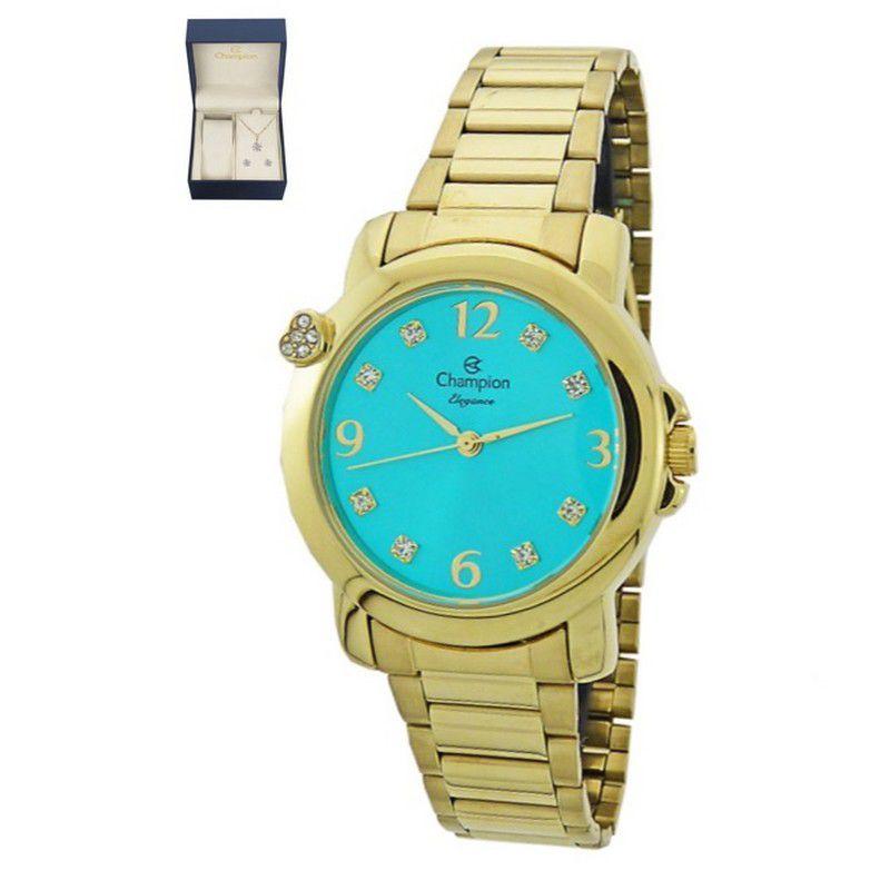Relógio Champion Feminino Dourado Analógico Elegance CN27161Y