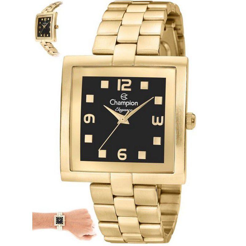 Relógio Champion Feminino Dourado Analógico Elegance CN27616U