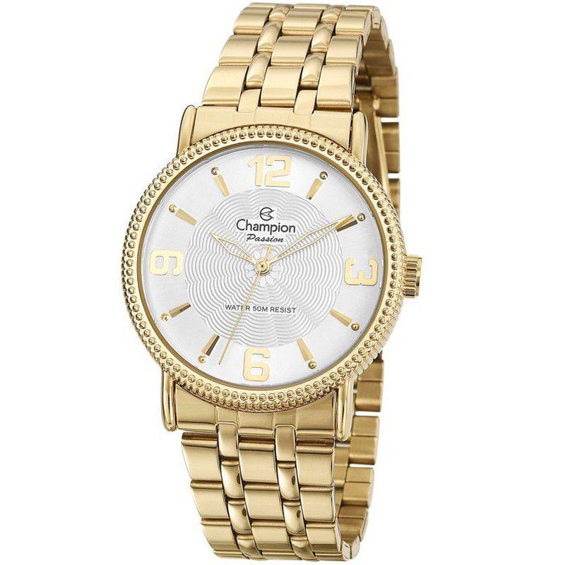 Relógio Champion Feminino Dourado Passion Analógico CN27296H