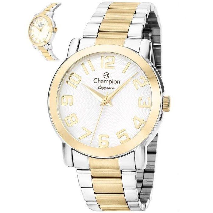 Relógio Champion Feminino Misto Duas Cores Metal Elegance Analógico CN26144B