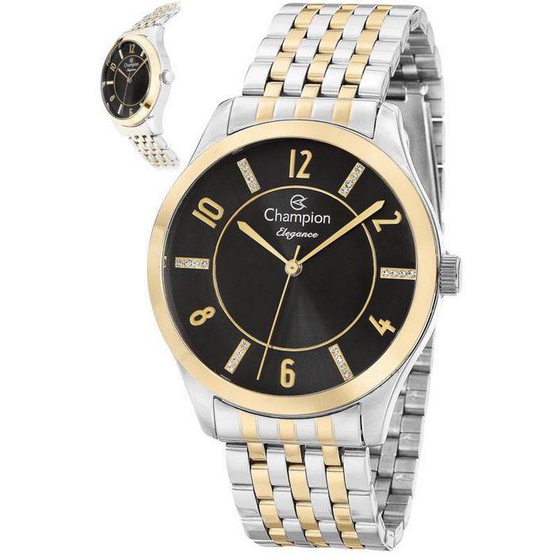 Relógio Champion Feminino Misto Duas Cores Metal Elegance Analógico CN27698P
