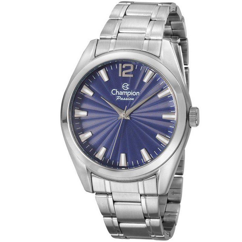 Relógio Champion Feminino Prata Aço Analógico Passion CN29865F