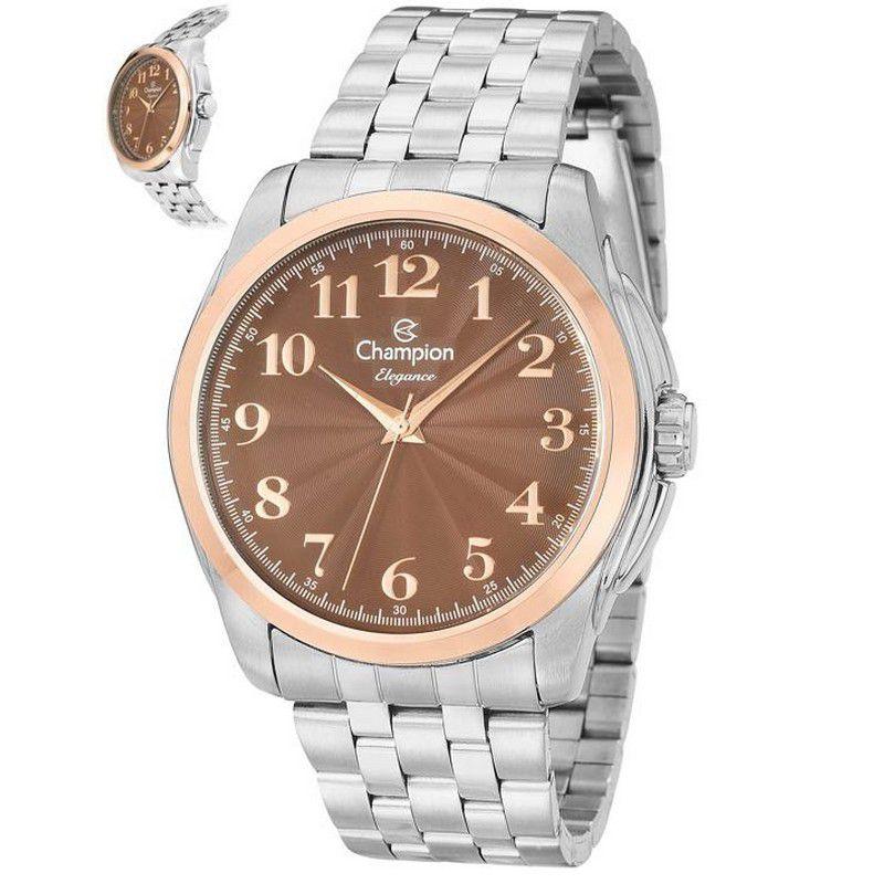 Relógio Champion Feminino Prata Analógico Elegance CN27572O