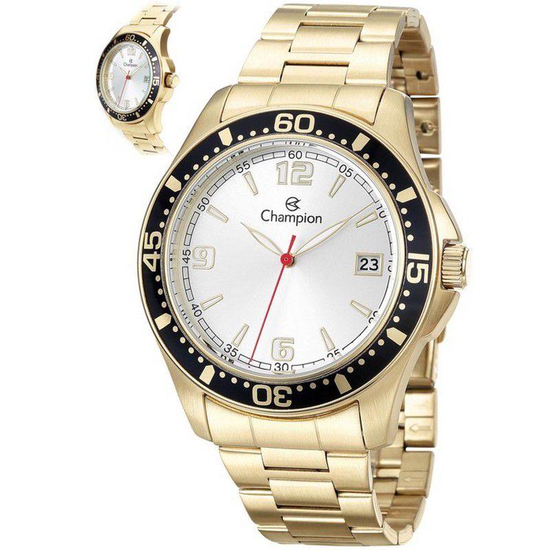 Relógio Champion Masculino Dourado Aço Analógico CA31248H