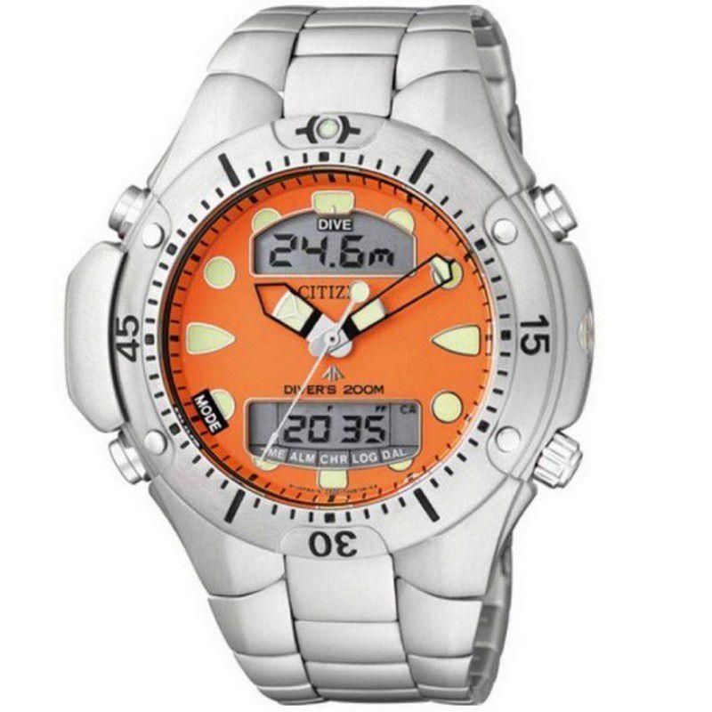 Relógio Citizen Masculino Aqualand II Aço Inoxidável Prata Profundímetro JP1060-52Y