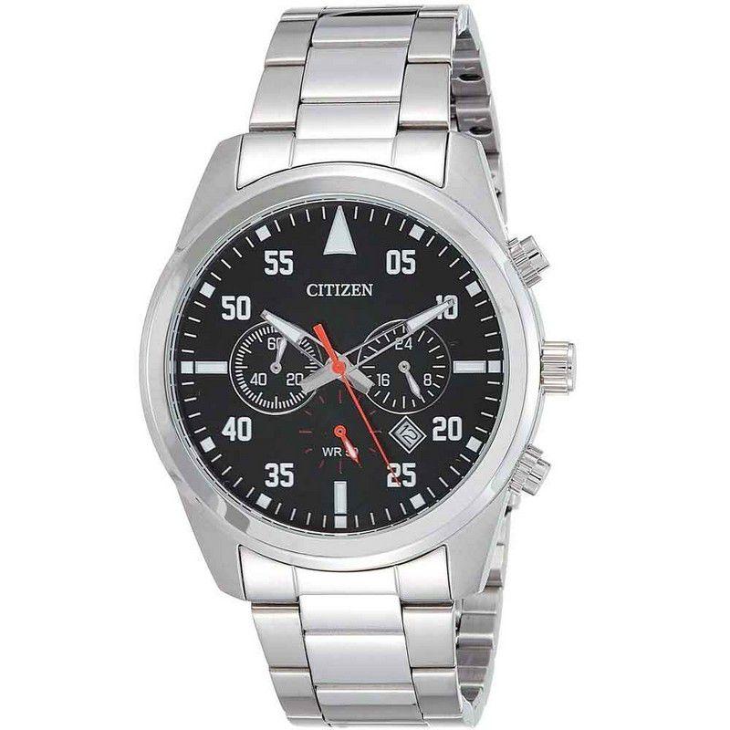Relógio Citizen Masculino Cronógrafo Prata Aço Inox Analógico AN8090-56E