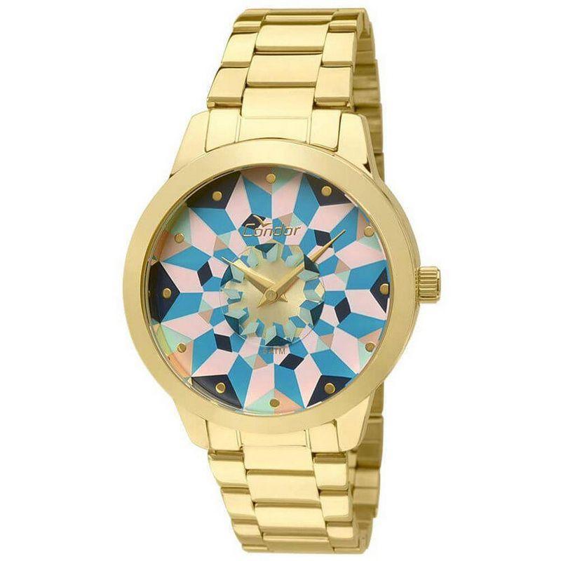 Relógio Condor Feminino Dourado Aço Inox Analógico Anitta CO2036KOE/4A