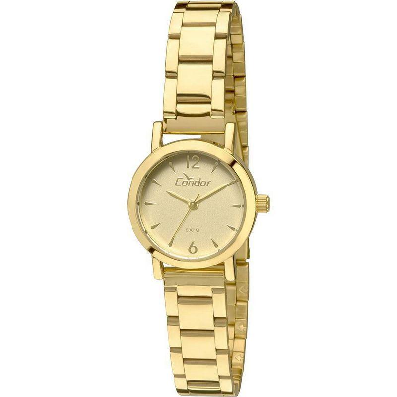 Relógio Condor Feminino Dourado Aço Inox Analógico CO2035KNC/4X