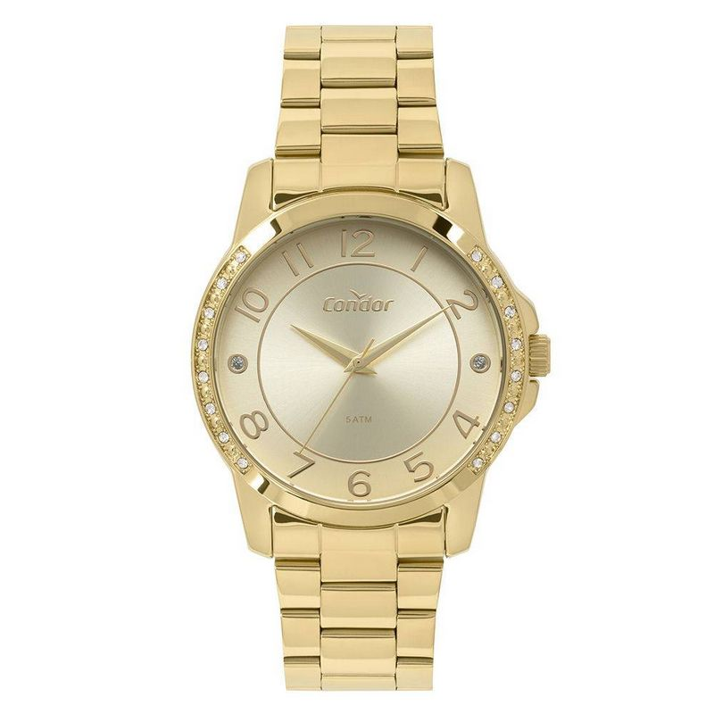 Relógio Condor Feminino Dourado Aço Inox Analógico CO2035KOM/4D