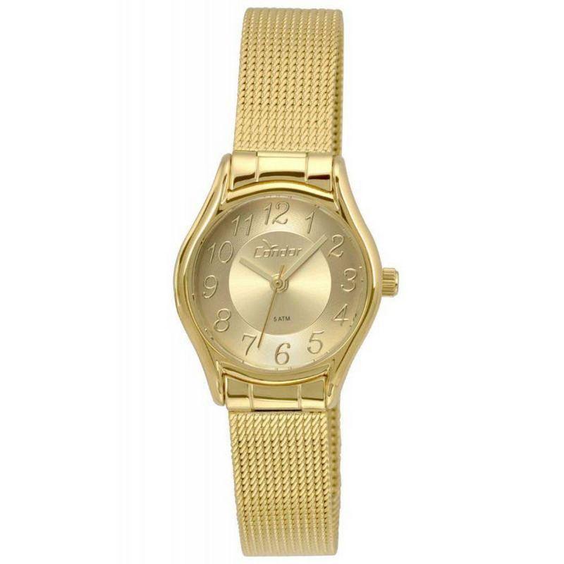 Relógio Condor Feminino Dourado Aço Inox Analógico CO2035KRO/4D