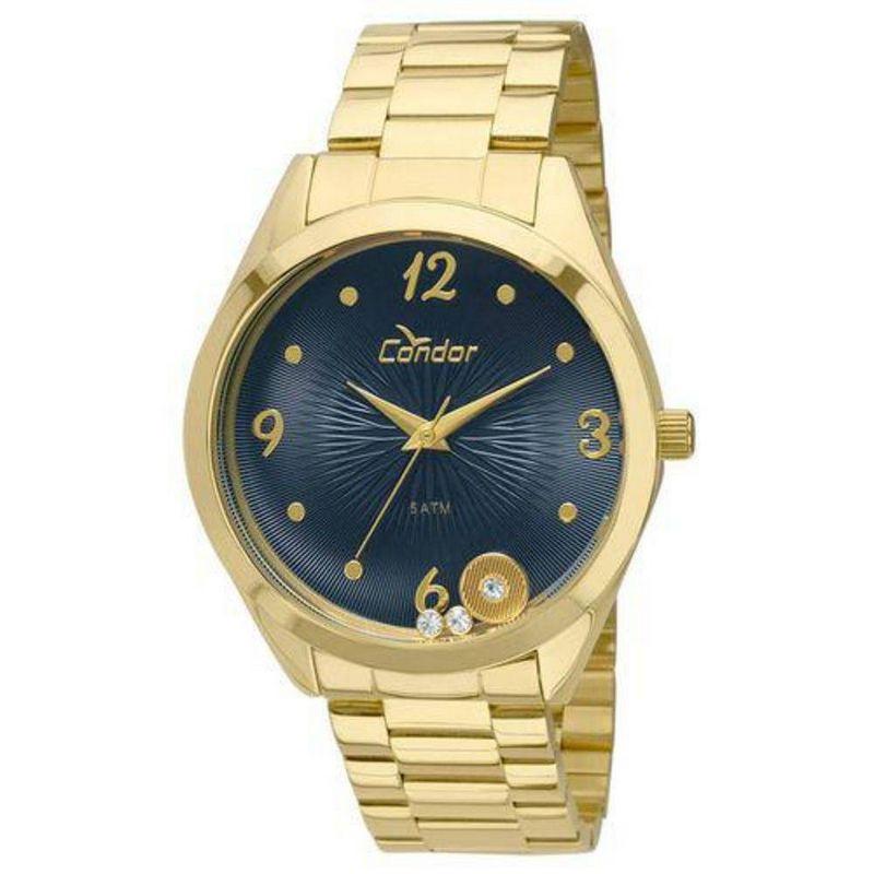 Relógio Condor Feminino Dourado Aço Inox Analógico CO2036KOT/4A