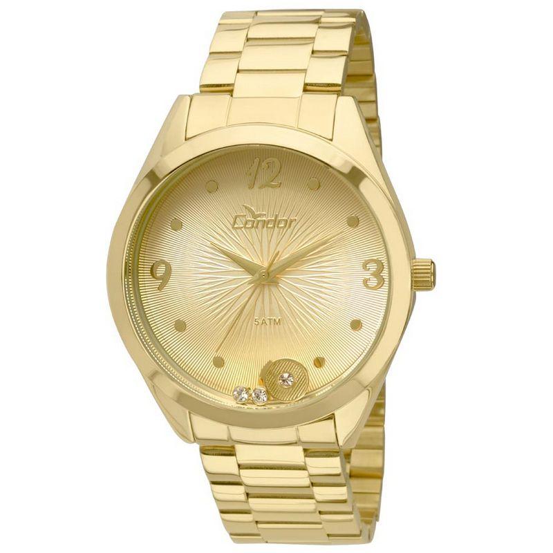 Relógio Condor Feminino Dourado Aço Inox Analógico CO2036KOT/4D