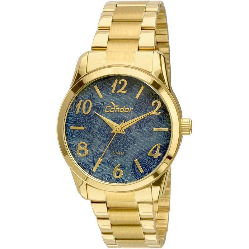 Relógio Condor Feminino Dourado Aço Inox Analógico CO2039AB/4A