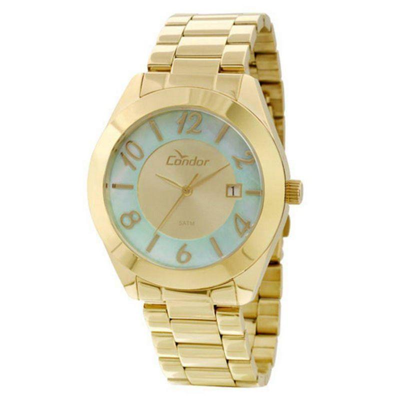 Relógio Condor Feminino Dourado Aço Inox Analógico CO2115TE/4B