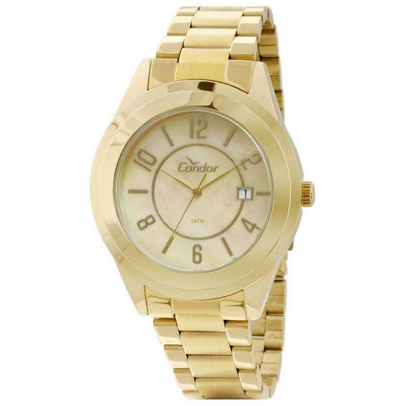 Relógio Condor Feminino Dourado Aço Inox Analógico CO2115TH/4X