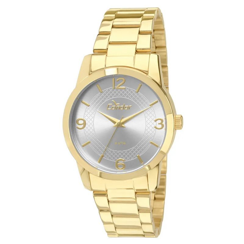 Relógio Condor Feminino Dourado Aço Inox Analógico Kit CO2035KLP/K4K