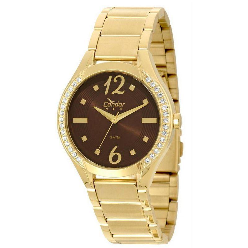 Relógio Condor Feminino Dourado Analógico Aço COPC21AI/4M