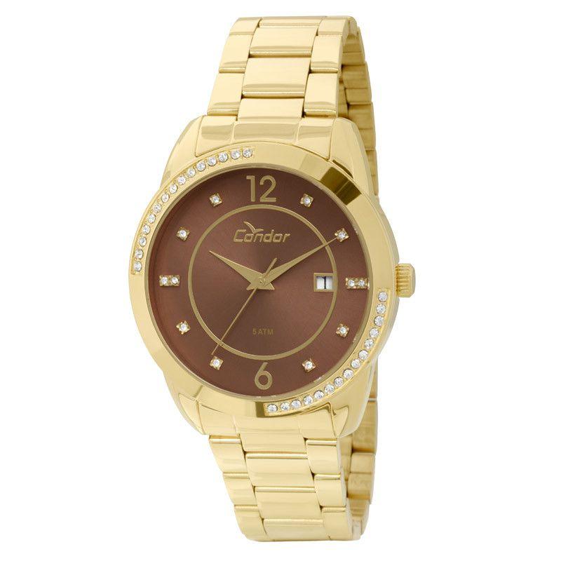 Relógio Condor Feminino Dourado Analógico Metal CO2115TN/4M