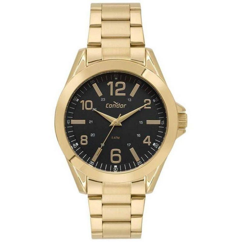 Relógio Condor Masculino Dourado Aço Inox Analógico CO2035KYO/4P