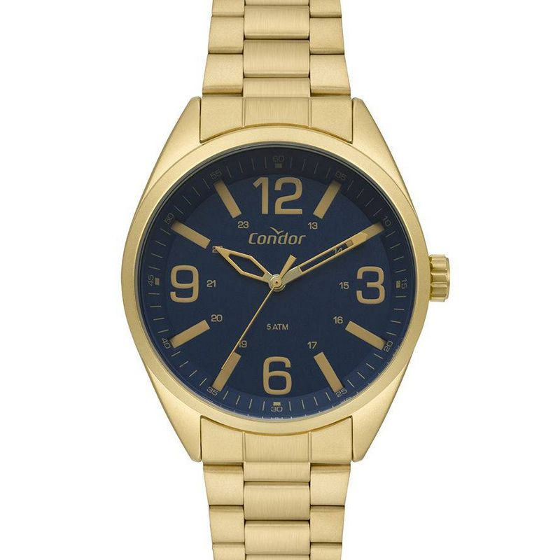 Relógio Condor Masculino Dourado Aço Inox Analógico CO2035MPG/4A