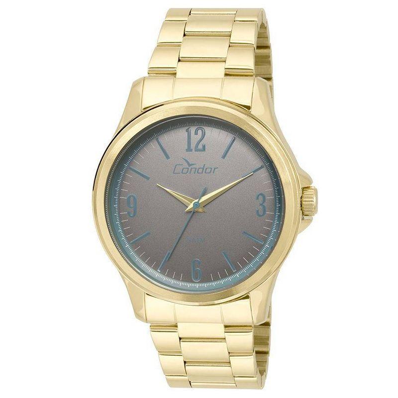 Relógio Condor Masculino Dourado Aço Inox Analógico CO2039AG/4C