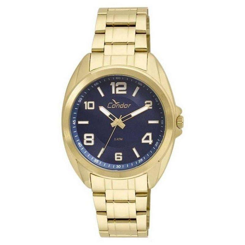 Relógio Condor Masculino Dourado Aço Inox Analógico Kit CO2035KUH/KS4A