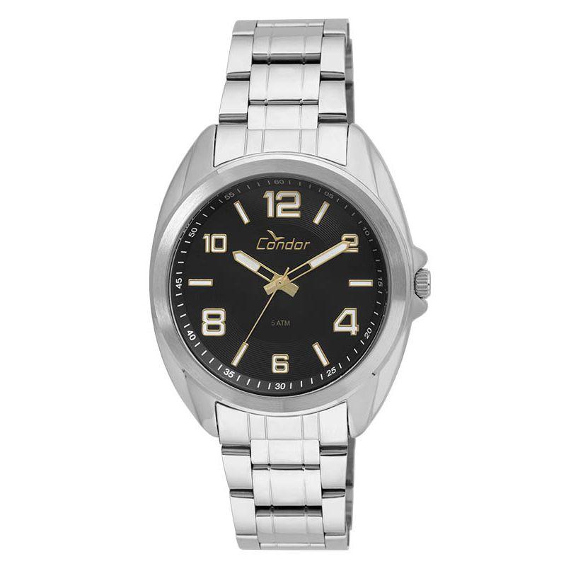 Relógio Condor Masculino Prata Aço Inox Analógico Kit CO2035KUI/K3P