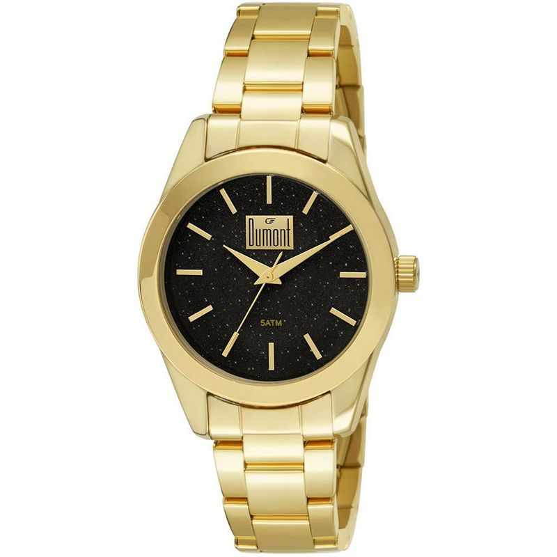 Relógio Dumont Feminino Dourado Analógico Aço DU2035LMY/4P