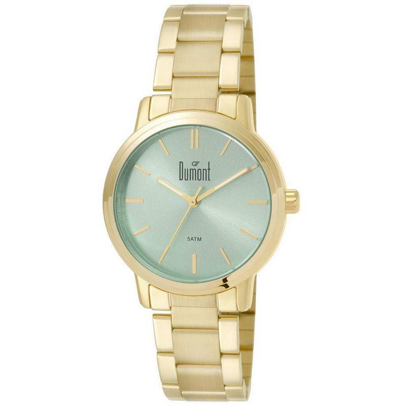 Relógio Dumont Feminino Dourado Fashion Analógico Aço DU2035LSJ/K4A