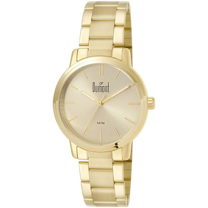Relógio Dumont Feminino Dourado Fashion Analógico Aço DU2035LSJ/K4D