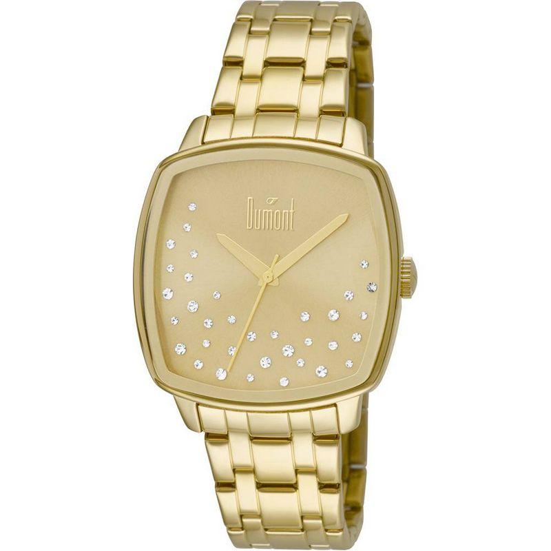 Relógio Dumont Feminino Dourado Fashion Analógico Aço DU2036LSS/4D