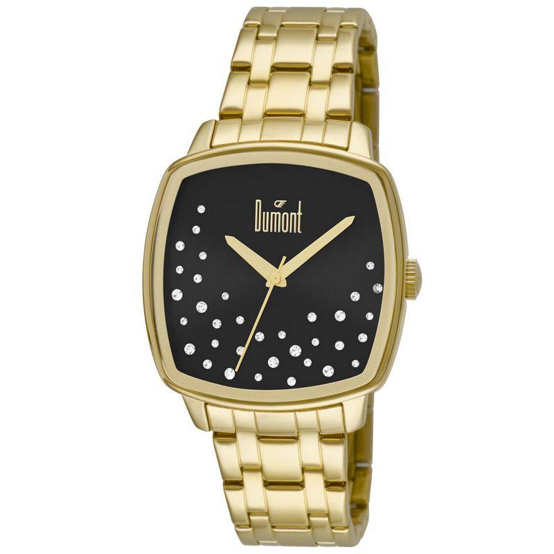 Relógio Dumont Feminino Dourado Fashion Analógico Aço DU2036LSS/4P