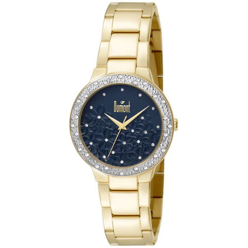 Relógio Dumont Feminino Dourado Splendore Cravejado DU2039LTU/4A