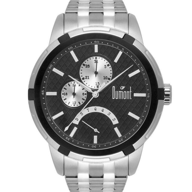 Relógio Dumont Masculino Prata Analógico Multi Função Aço DUJR10AJ/4K